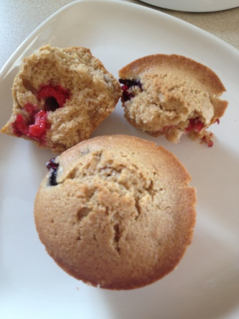 Berry Muffins with Olive Oil